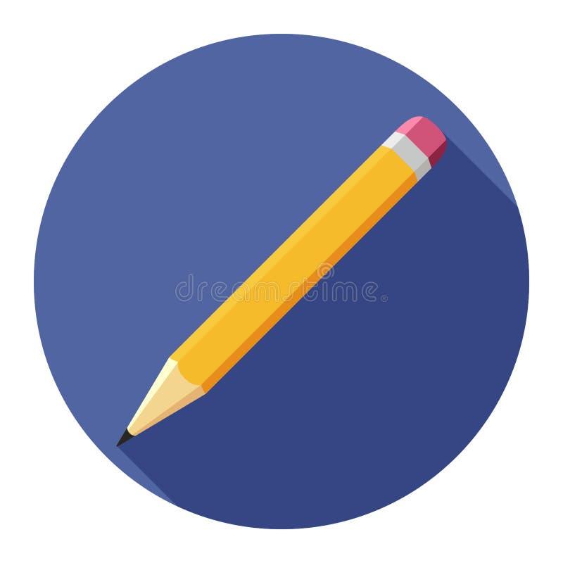 Plan symbol för blyertspenna på blå bakgrund för något tillfälle royaltyfri illustrationer