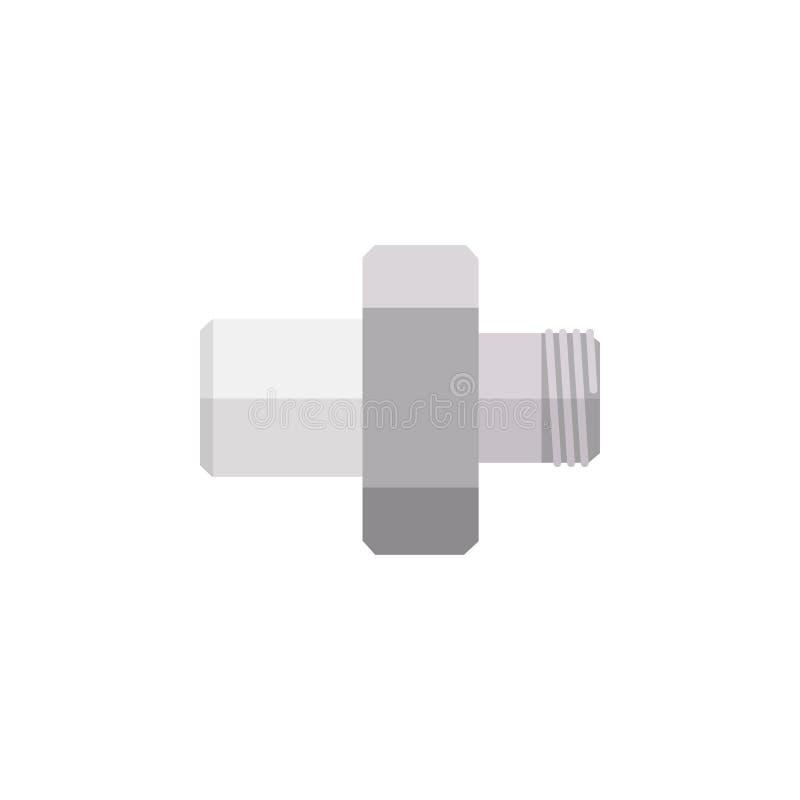 Plan symbol för bransch Kontaktdonvektorbeståndsdelen kan användas för röret, kontaktdonet, branschdesignbegrepp stock illustrationer