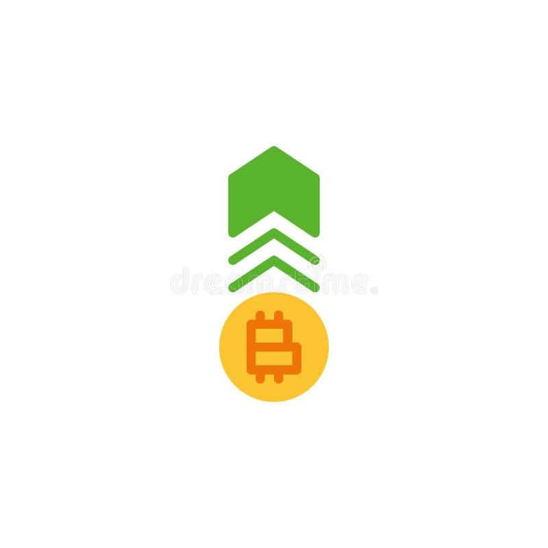 Plan symbol för Cryptocurrency räntetillväxt stock illustrationer
