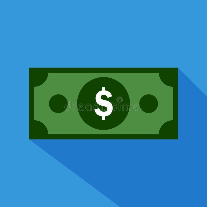 Plan symbol för dollar stock illustrationer