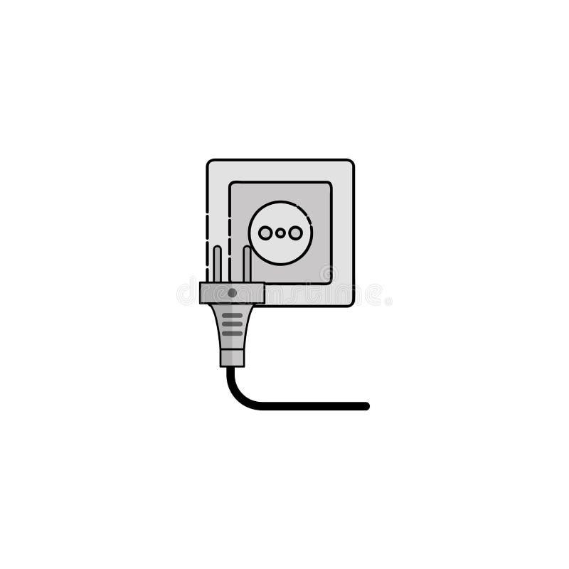 Plan symbol för elektricitet Hålighet royaltyfri illustrationer
