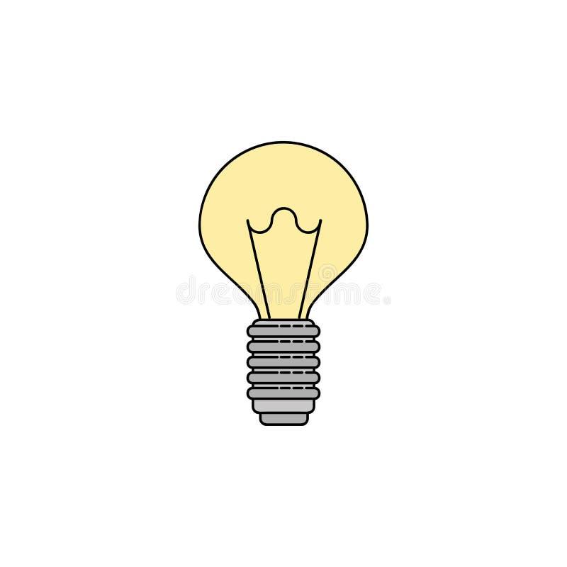 Plan symbol för elektricitet lightbulb vektor illustrationer