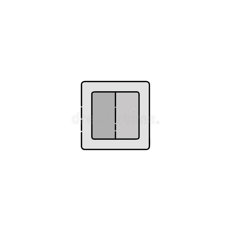 Plan symbol för elektricitet ljus strömbrytare vektor illustrationer