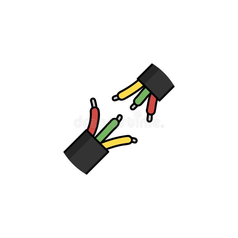 Plan symbol för elektricitet trådar royaltyfri illustrationer