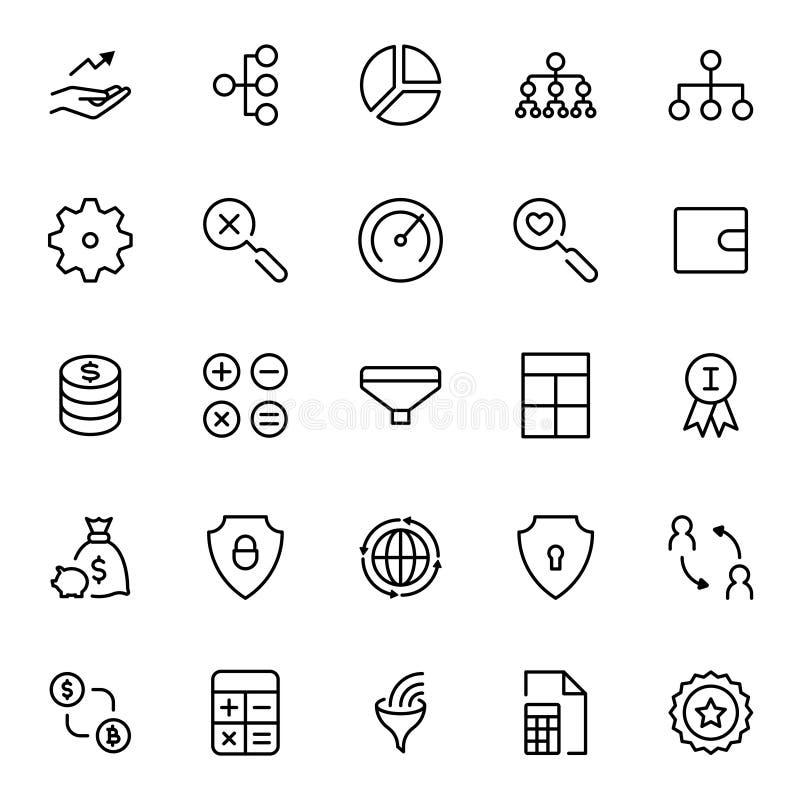 Plan symbol för handel stock illustrationer