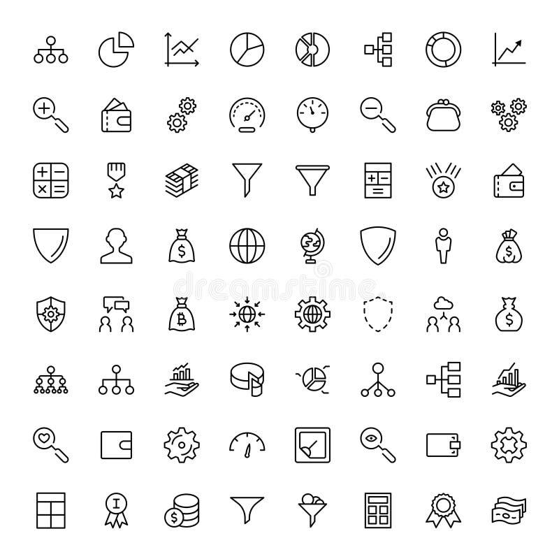 Plan symbol för handel vektor illustrationer
