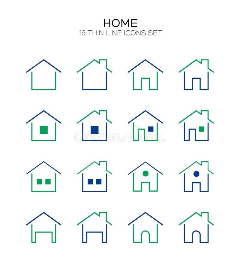 Plan symbol för hem vektor illustrationer