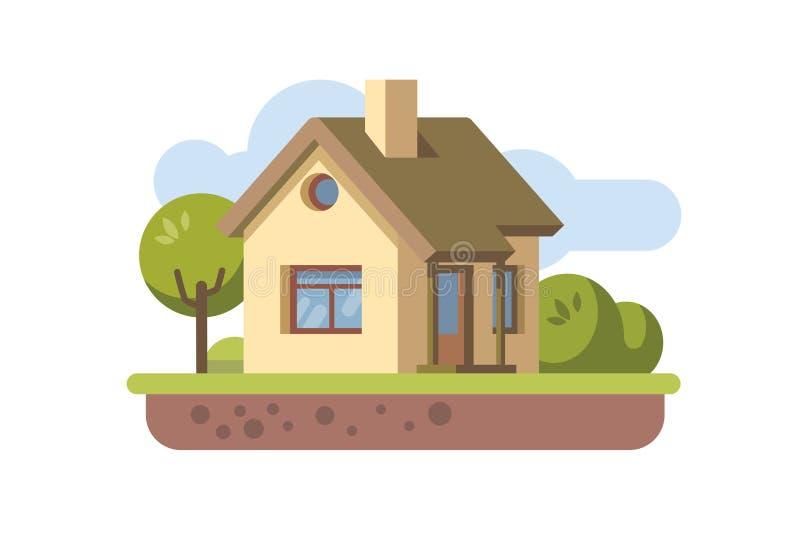 Plan symbol för hus royaltyfri illustrationer