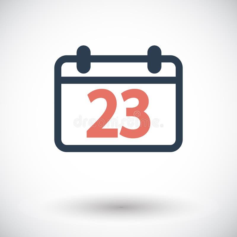 Plan symbol för kalender royaltyfri illustrationer