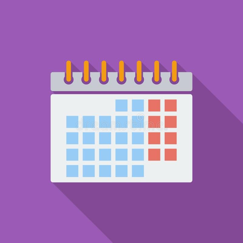 Plan symbol för kalender vektor illustrationer