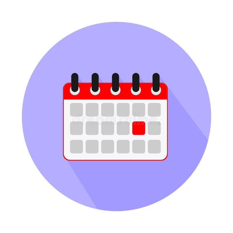 Plan symbol för kalender Europeisk version Spiral väggkalender stock illustrationer