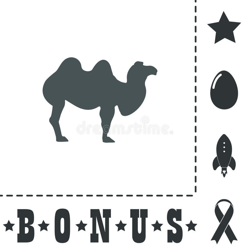 Plan symbol för kamel vektor illustrationer