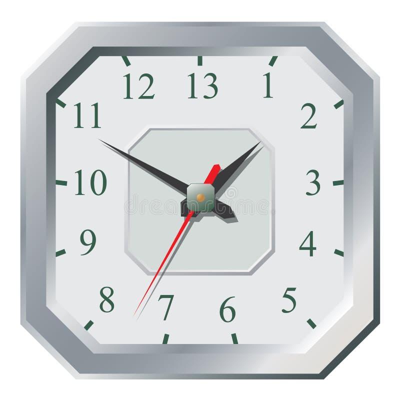 Plan symbol för klocka Stopwatch som jordjordklotet på en vitbakgrund vektor illustrationer