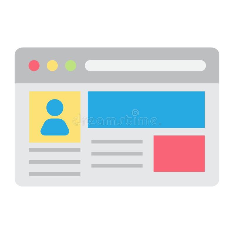 Plan symbol för konto, socialt massmedia och website royaltyfri illustrationer