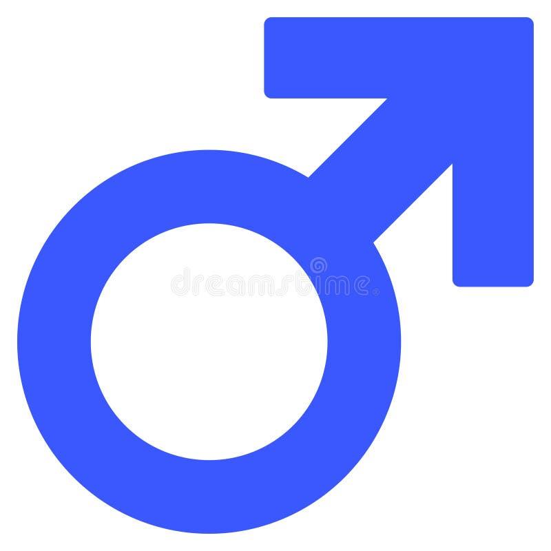 Plan symbol för manligt symbol vektor illustrationer
