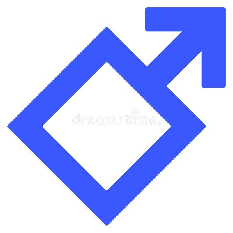 Plan symbol för manligt symbol stock illustrationer
