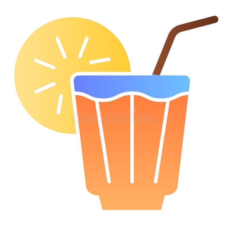 Plan symbol för med is drink Lemonadfärgsymboler i moderiktig plan stil Kall design för telutningstil som planläggs för rengöring vektor illustrationer