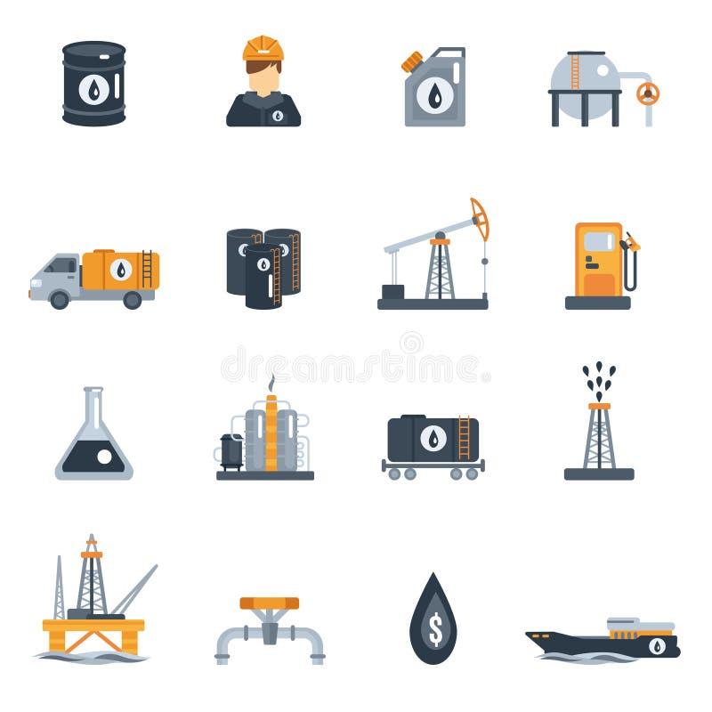 Plan symbol för oljeindustri royaltyfri illustrationer