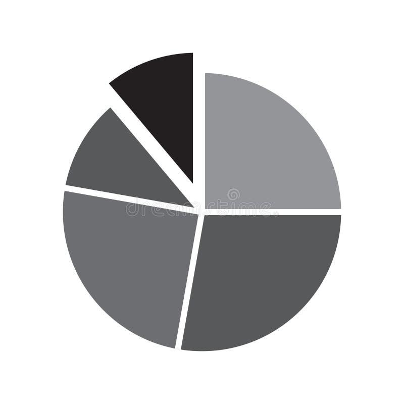 Plan symbol för pajdiagram, diagramsymbol stock illustrationer