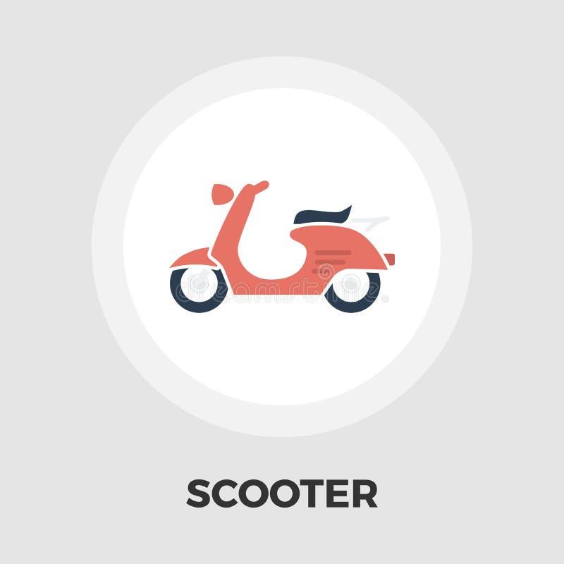 Plan symbol för sparkcykel vektor illustrationer