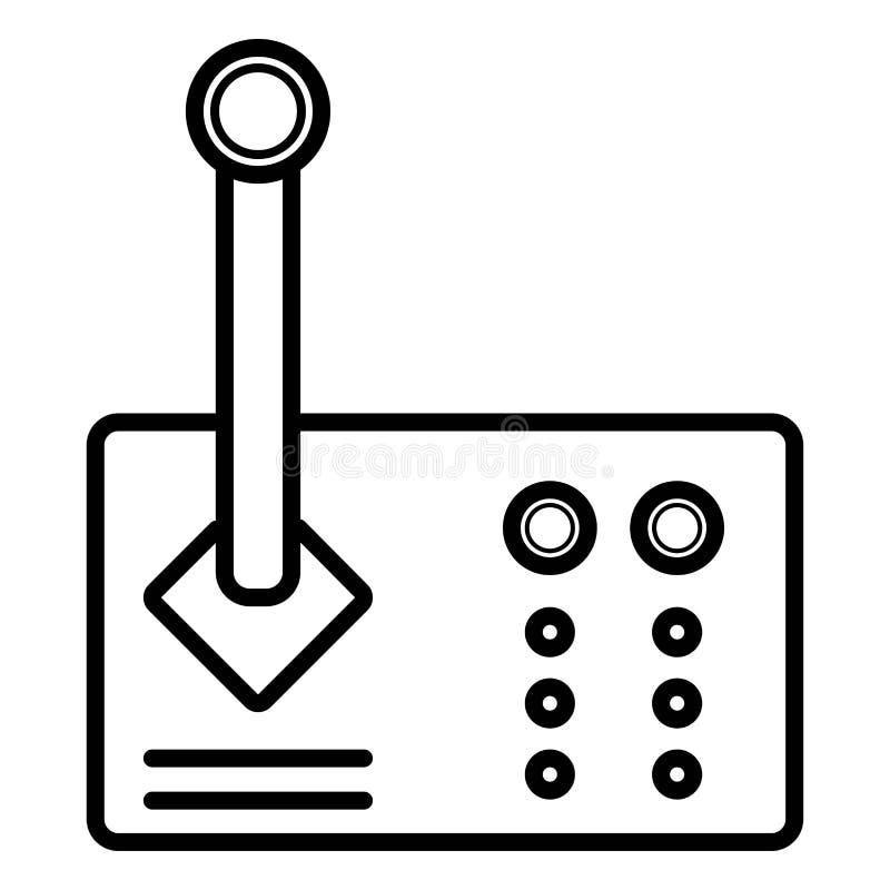 Plan symbol för styrspak royaltyfri illustrationer