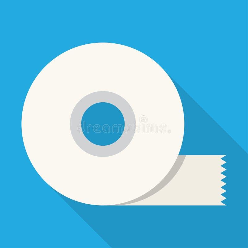 Plan symbol för tejp stock illustrationer