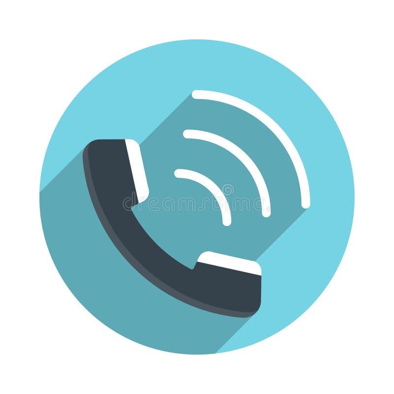 Plan symbol för telefonlur stock illustrationer