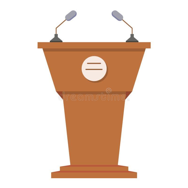 Plan symbol för tribun eller för talarstol stock illustrationer