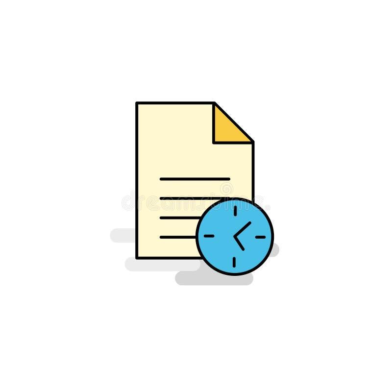 Plan symbol för uppgift i rätt tid vektor royaltyfri illustrationer