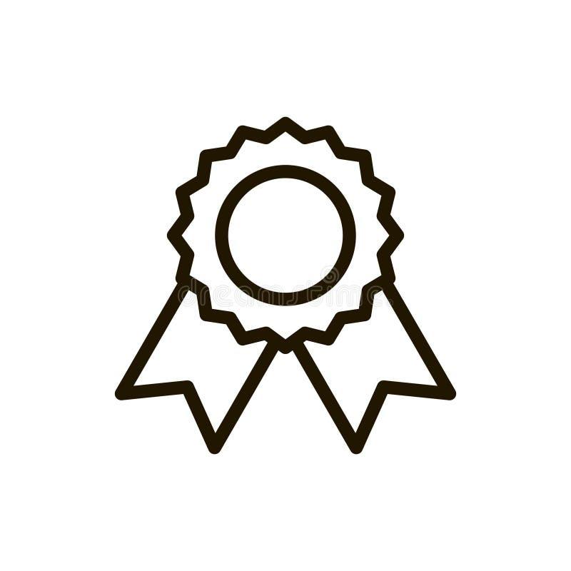 Plan symbol för utmärkelse royaltyfri illustrationer