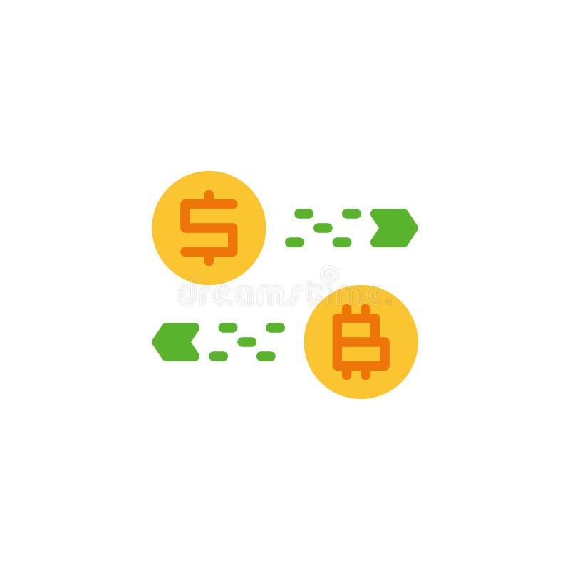 Plan symbol för valutaomformare royaltyfri illustrationer