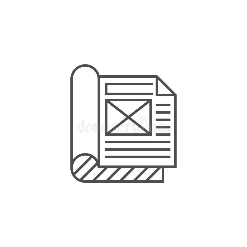 Plan symbol f?r artikel vektor illustrationer