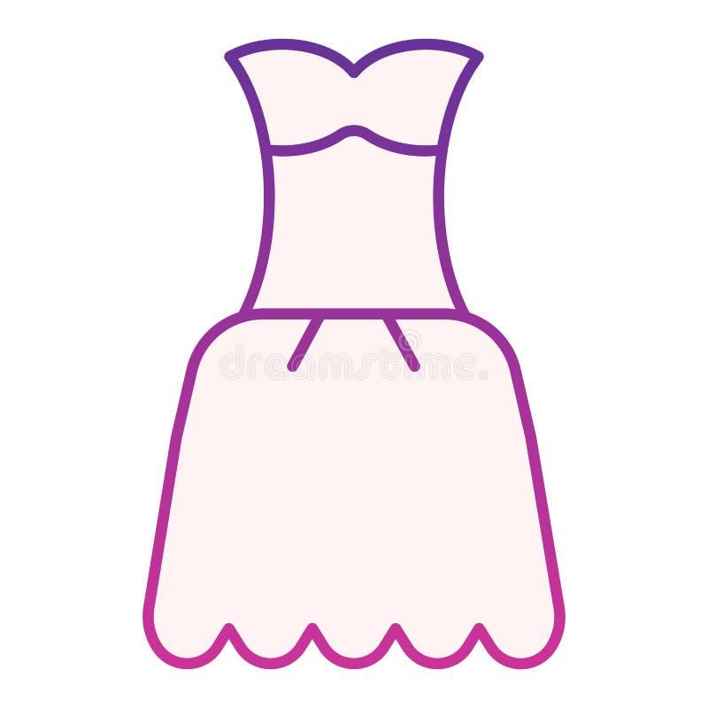 Plan symbol f?r kl?nning Purpurfärgade symboler för kappa i moderiktig plan stil Design för stil för kvinnakläderlutning som plan stock illustrationer