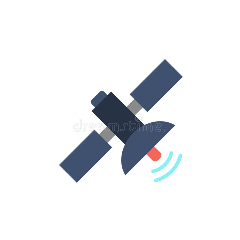 Plan symbol f?r satellit stock illustrationer