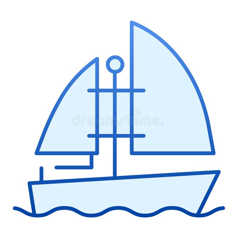 Plan symbol f?r yacht Bl stock illustrationer