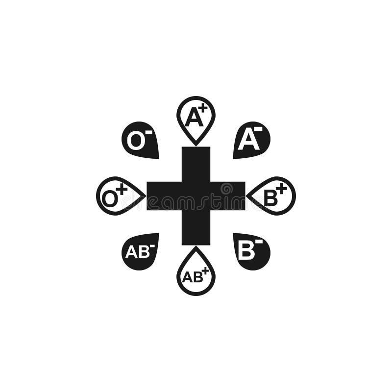 Plan symbol ge första erfarenhet kunskap av typ Medicinsk kunskap Juni 14th Världsblodgivaredag vektor illustration planlägg diag royaltyfri illustrationer