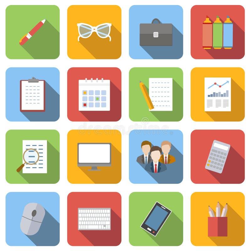Plan symbolsuppsättning för affär stock illustrationer
