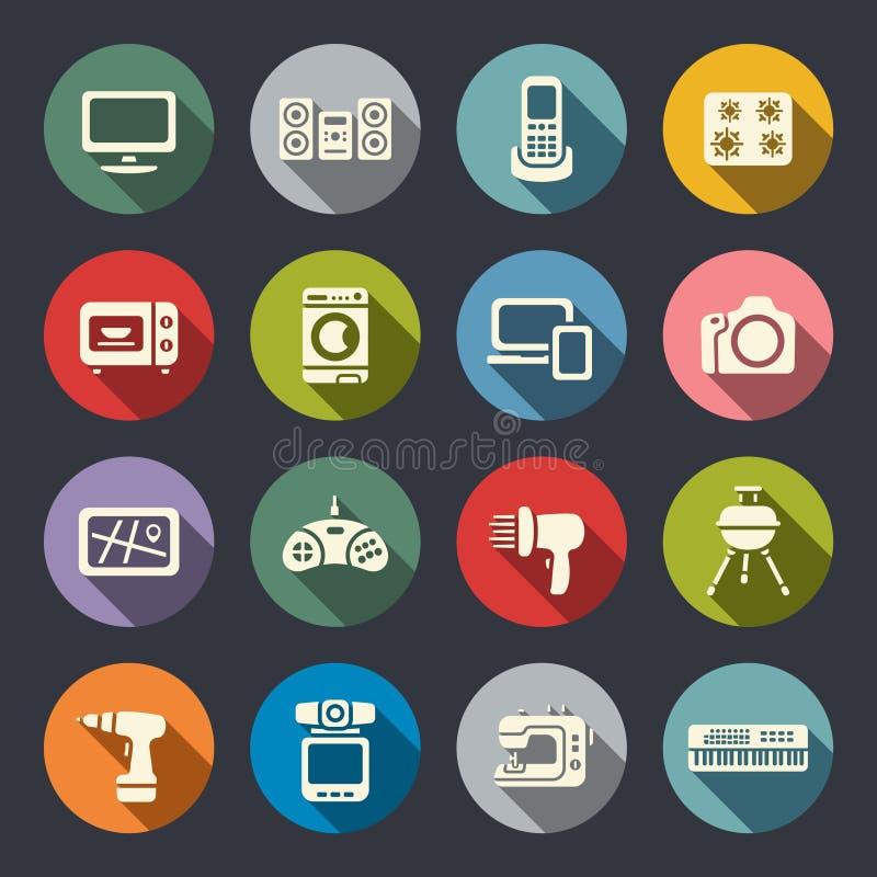 Download Plan Symbolsuppsättning För Elektronik Vektor Illustrationer - Illustration av element, laptop: 37347176