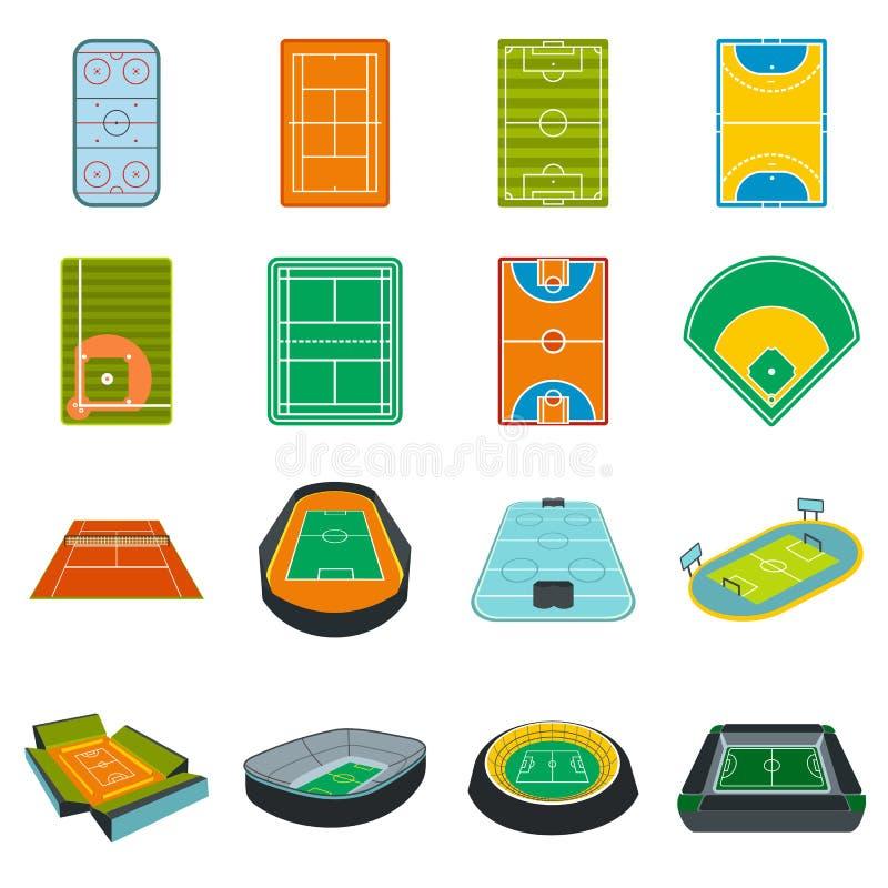 Plan symbolsuppsättning för stadion vektor illustrationer