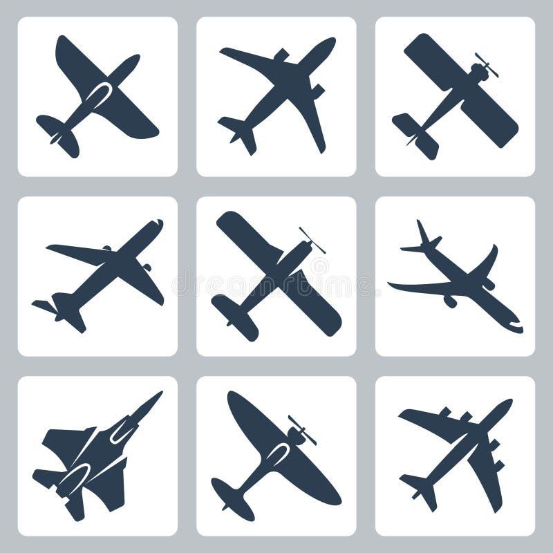 Plan symbolsuppsättning för vektor vektor illustrationer