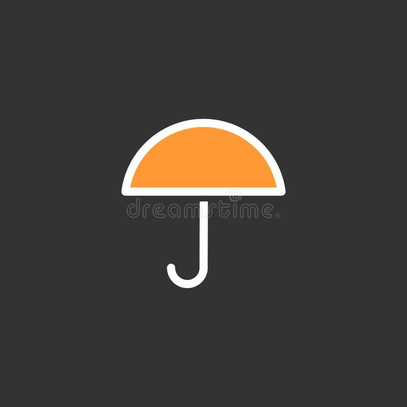Plan symbolsvektor för paraply, eps 10 stock illustrationer