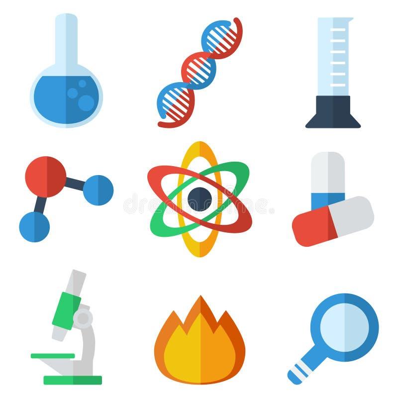 Plan symbolsvetenskap stock illustrationer