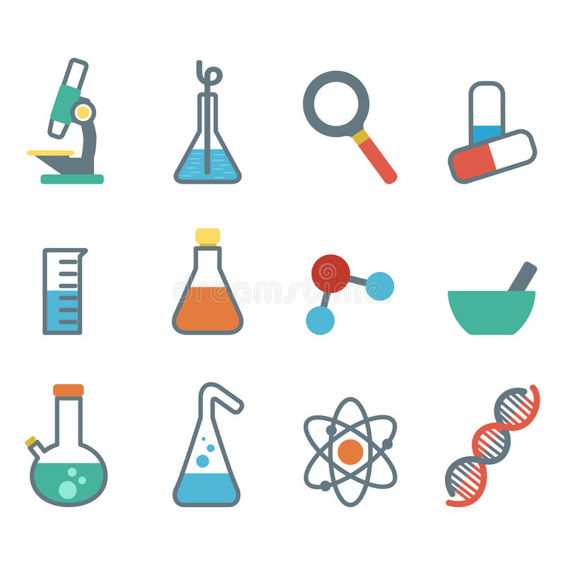 Plan symbolsvetenskap vektor illustrationer