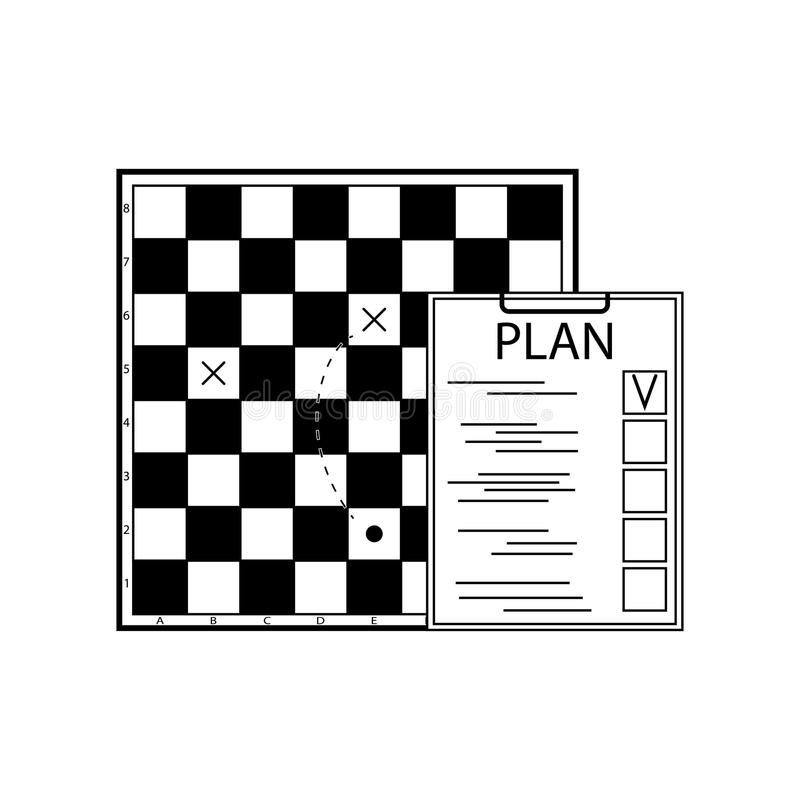 Plan tactic scheme and strategy business royalty free illustration