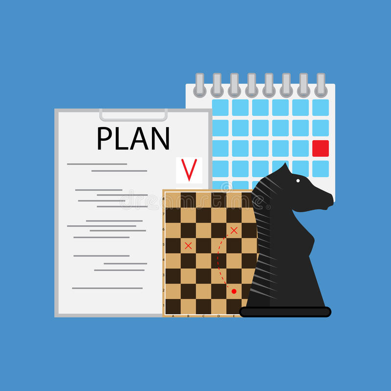 Plan tactic and strategy business royalty free illustration