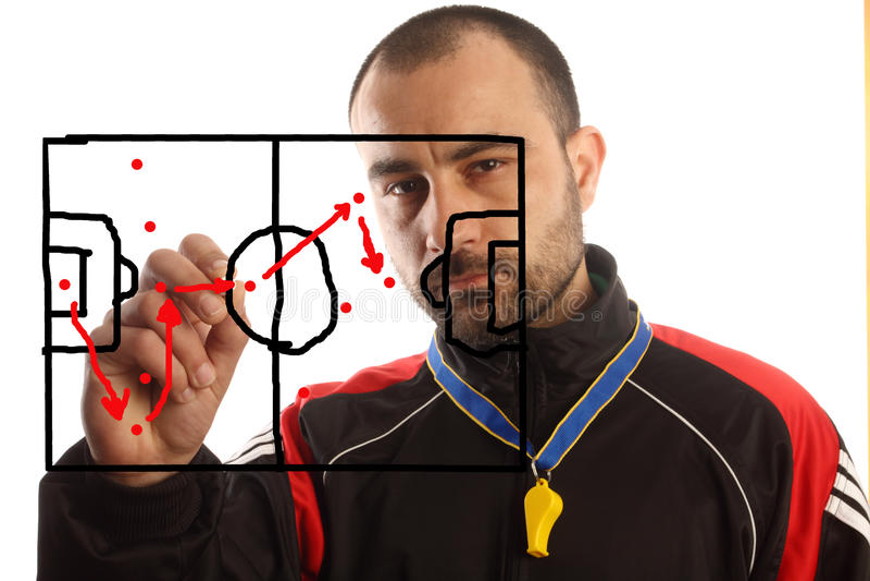 Plan tactique du football photo stock