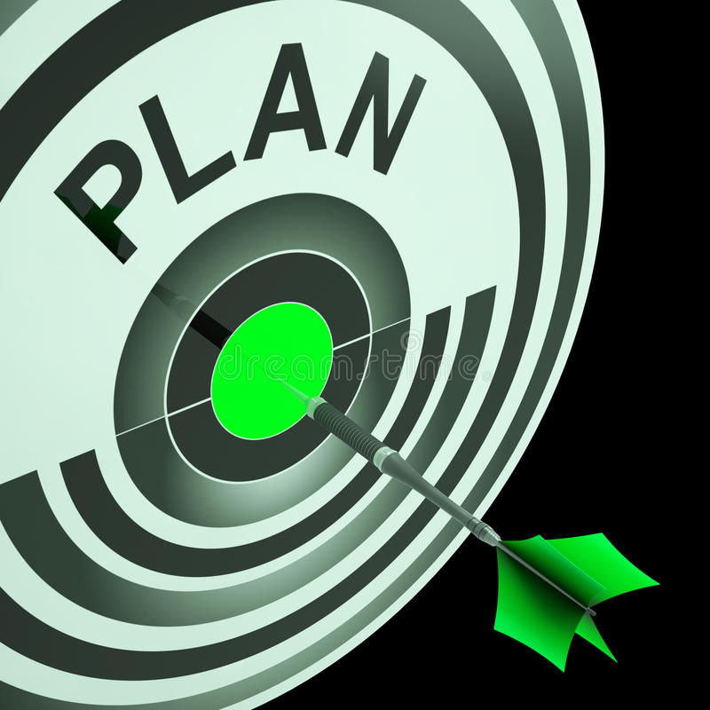 Plan Target Means Planning, Missions And Objectives stock illustration