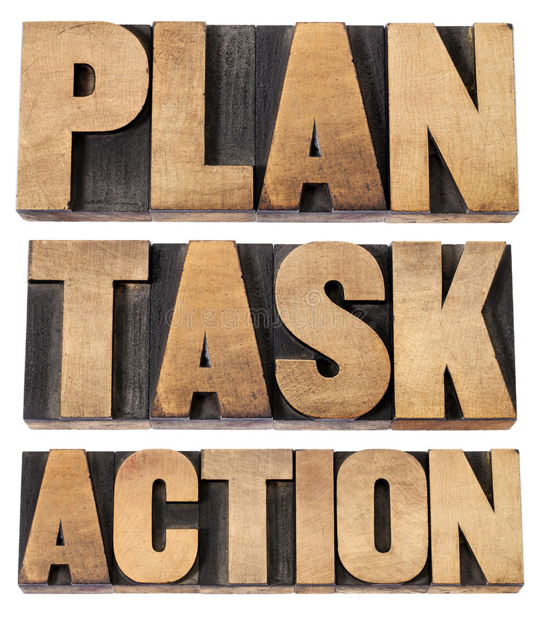 Download Plan, Task, Action Word In Woot Type Stock Photo - Image: 27328268