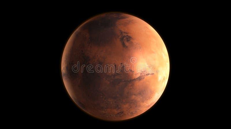 Plan?te Mars dans l'espace extra-atmosph?rique rendu 3d illustration libre de droits