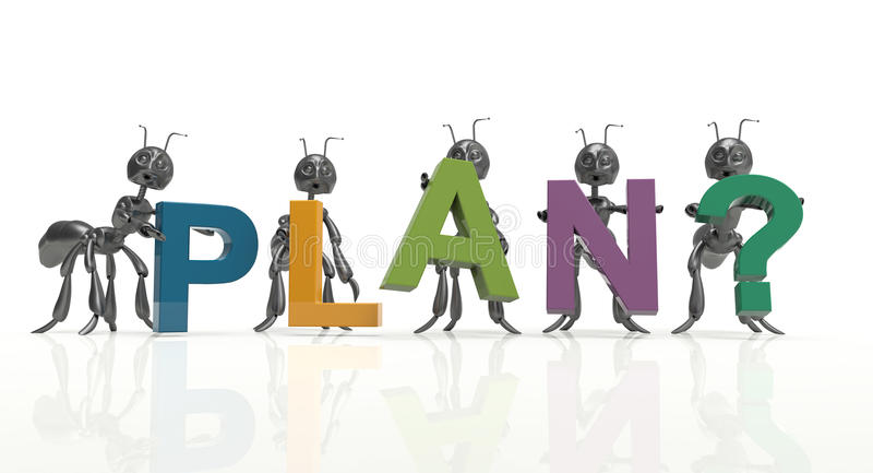 Plan team royalty free illustration